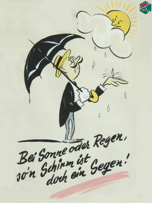 Bei Sonne oder Regen, so'n Schirm ist doch ein Segen!