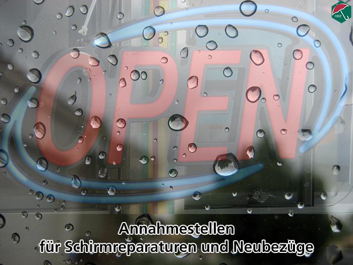 Unsere Annahmestellen für Schirmreparaturen und Neubezüge.