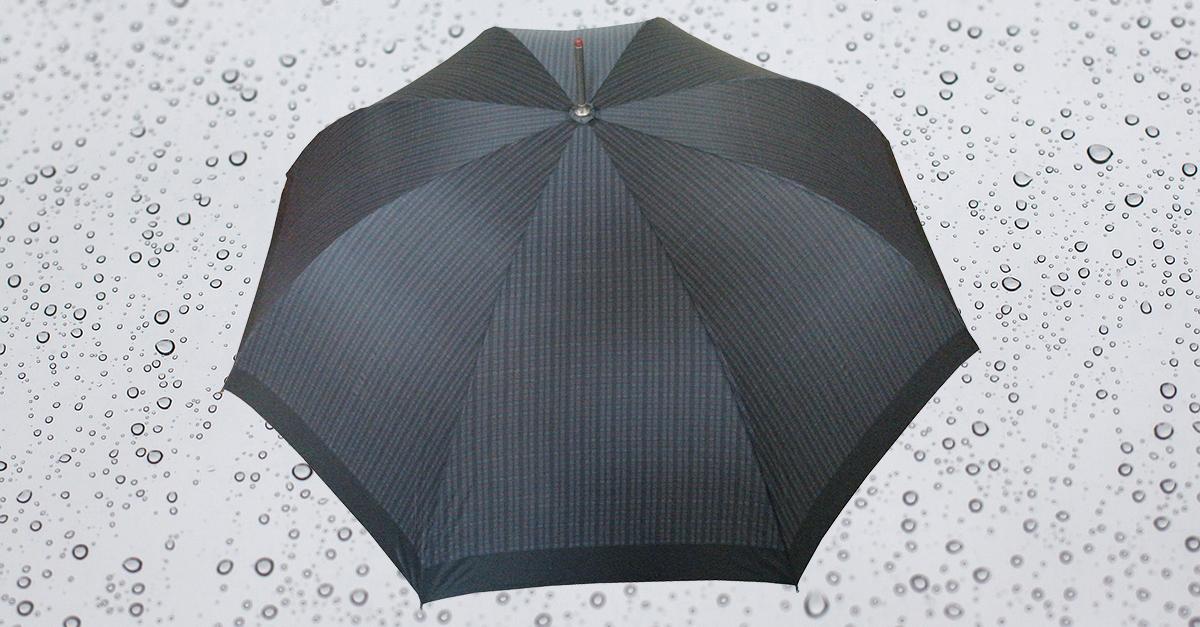 HP179 Herren Langschirm, Stahlstock mit angesetztem Griff, 8 teilig, automatische Öffnung, ohne Futteral (auf Wunsch kann ein unifarben schwarzes Futteral gefertigt werden)