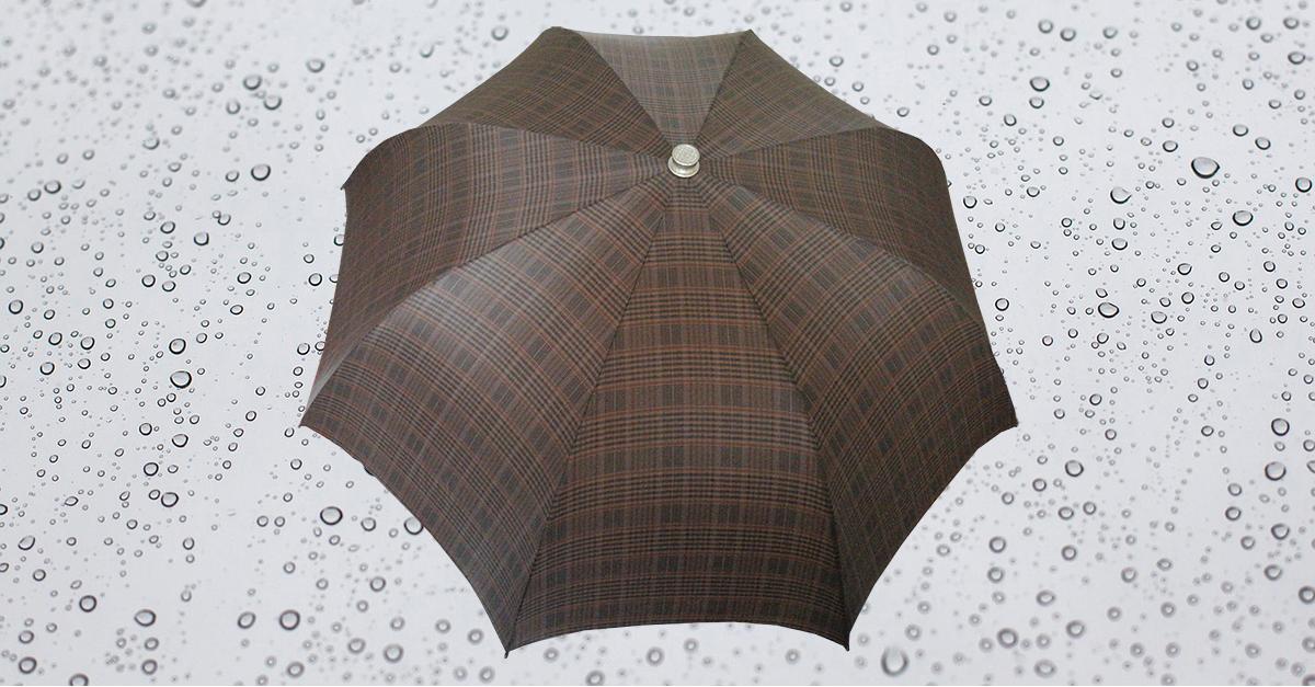 HP181 Herren Taschenschirm, 8 teilig, manuelle Öffnung, ohne Futteral