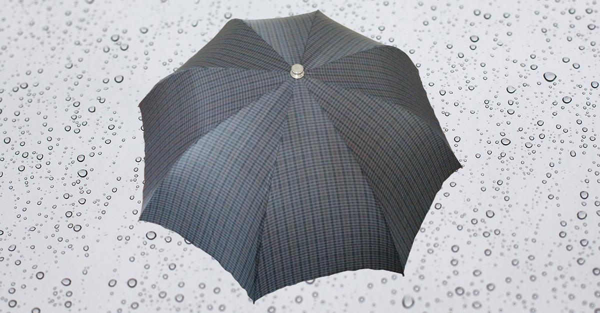 HP182 Herren Taschenschirm, 8 teilig, manuelle Öffnung, ohne Futteral